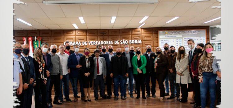 PREFEITOS DA AMFRO PARTICIPAM DA 186º REUNIÃO DA ULFRO EM SÃO BORJA